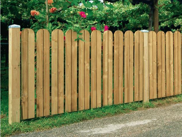 Steccato giardino legno design casa creativa e mobili - Recinzioni da giardino in legno ...