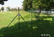 Pletena mreža ograje PVC zelena
