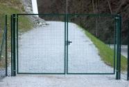 Dvokrilna vrata zelena