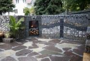 Kamnita gabionska ograja